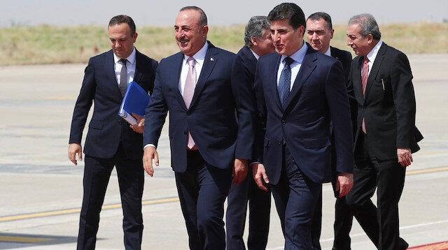 Çavuşoğlu Neçirvan Barzani ile görüştü