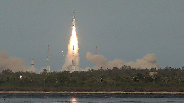 India's Geosynchronous Satellite Launch Vehicle (GSLV-F09) carrying GSAT-9