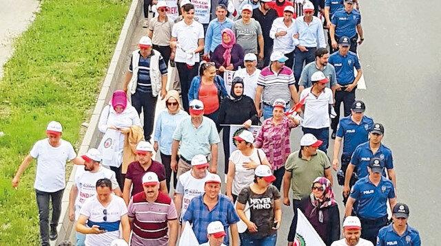 İşçilerin adalet yürüyüşü başladı