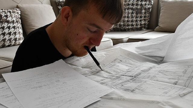 Yüzde 98 bedensel engelli genç inşaat mühendisi oldu