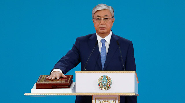 Kazakhstan's President Kassym-Jomart Tokayev