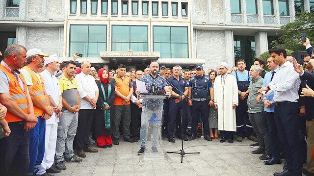 Belediye çalışanları iftiralara isyan etti