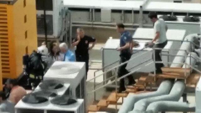 Hastanede yaşanan patlama sonrası panik anları kamerada