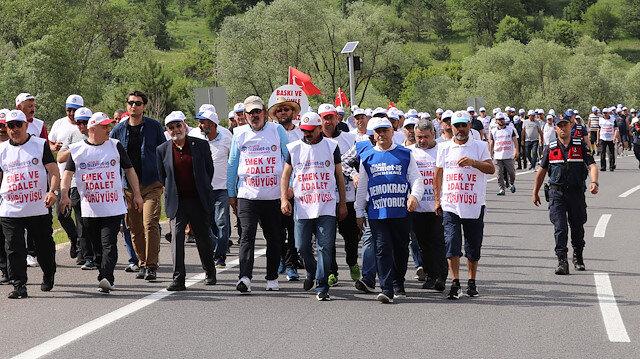 İşçilerin 'Emek ve Adalet Yürüyüşü' tamamlandı