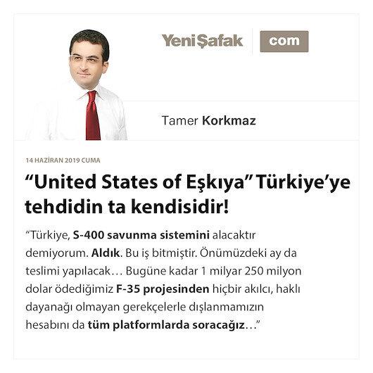 """""""United States of Eşkıya"""" Türkiye'ye tehdidin ta kendisidir!"""