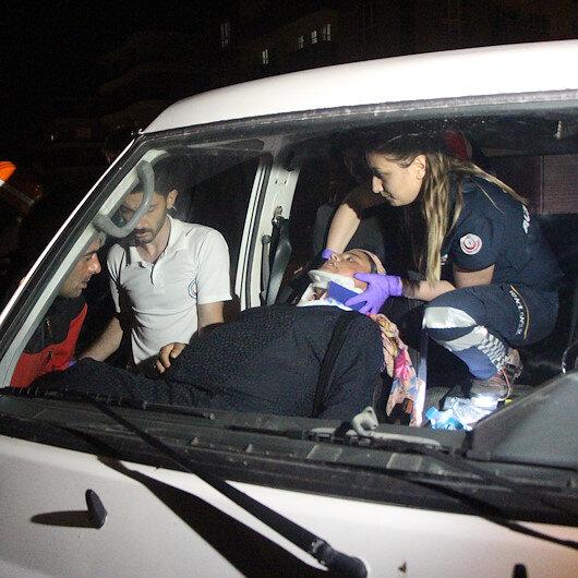 Cipin çarptığı minibüste sıkışan hamile kadın kurtarıldı