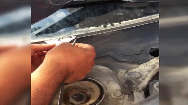Kimliği otomobil camına sıkışan gencin sınav telaşı