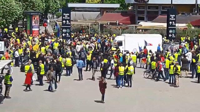 Fransa'da sarı yelekliler 31 haftadır sokaklarda