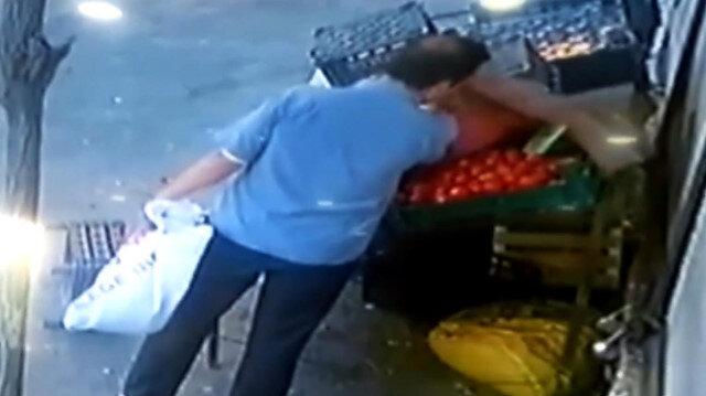 Gaziantep'te kasa kasa domates böyle çalındı