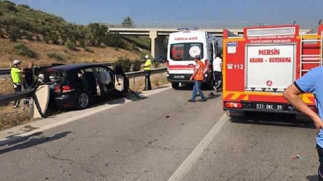 Mersin'de dehşete düşüren kaza