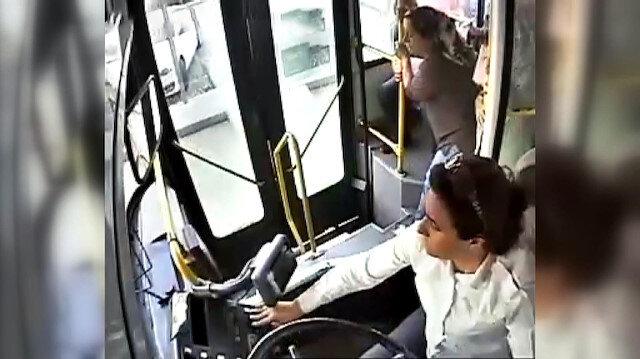 Otobüs şoförü kalp krizi geçiren yolcuyu hastaneye yetiştirdi