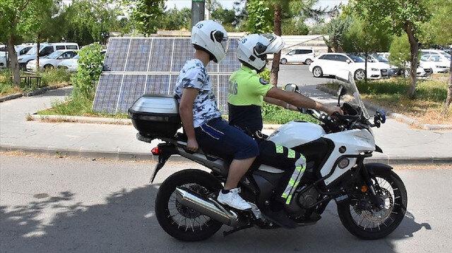 Sınava polis motosikletiyle yetiştirildi