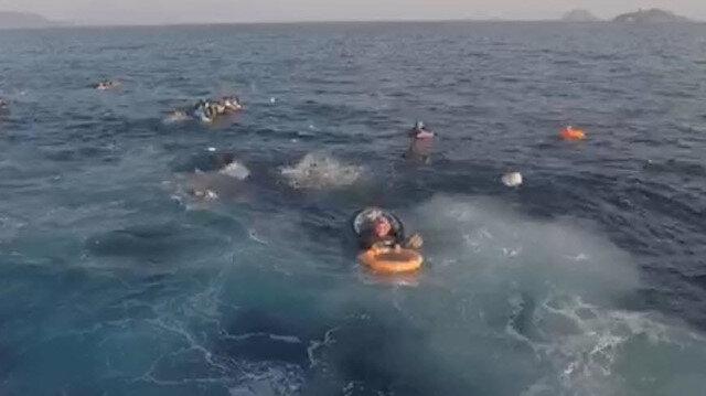 Batan teknede bulunan 31 kişi kurtarıldı.