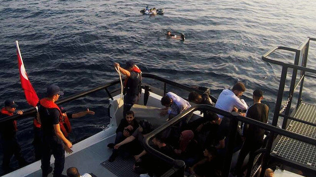 Bodrum açıklarında tekne battı