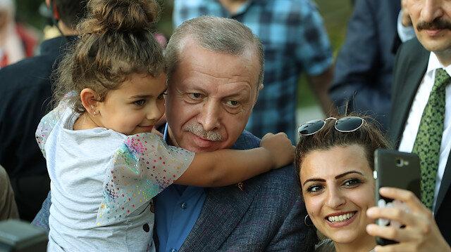 Cumhurbaşkanı Erdoğan Nakkaştepe Millet Bahçesini gezdi