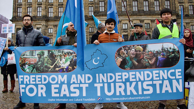 Protests held in Amsterdam against China's Uyghur policy