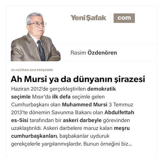 Ah Mursi ya da dünyanın şirazesi