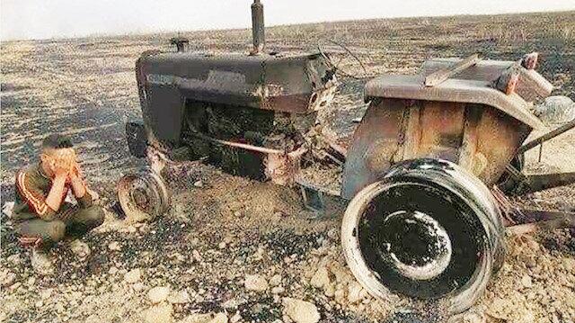 PKK tarafından yakılan arazilerde ABD ve Avrupa'dan getirilen, kundaklama amacıyla kullanılan özel üretim naylonlar ele geçirildi.