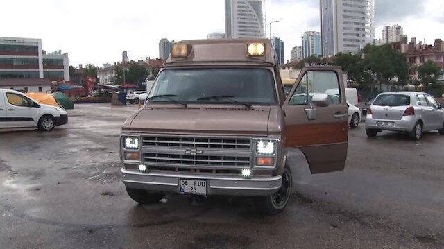 Turgut Özal'ın karavana dönüştürülen ambulansı görüntülendi