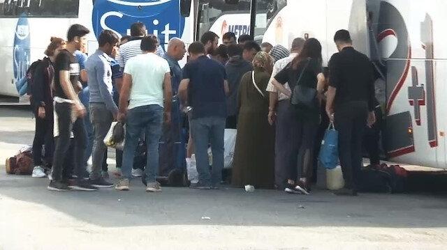İstanbul Otogarında seçim yoğunluğu böyle görüntülendi
