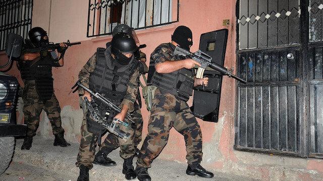 Operasyona polis özel harekat ekipleri de katıldı. Fotoğraf: Arşiv.