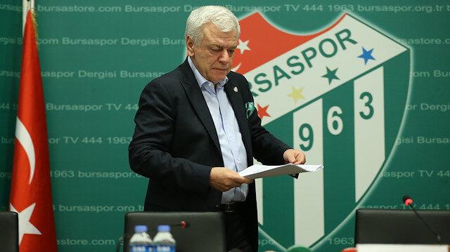 Bursaspor'da Ali Ay ve yönetimi ibra edilmedi