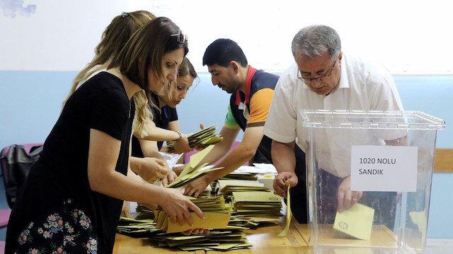 Oy sayım işlemi