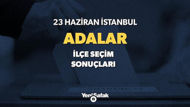 23 Haziran İstanbul Adalar seçim sonuçları.