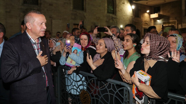Cumhurbaşkanı Erdoğan Eyüp Sultan türbesini ziyaret etti