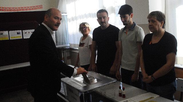 İçişleri Bakanı Süleyman Soylu oyunu Gaziosmanpaşa'da kullandı.