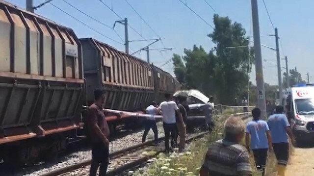 Mersinde tren kazası