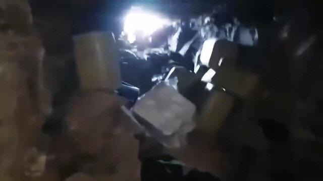 Hakurk'ta PKK'ya ait silah ve yaşam malzemesi ele geçirildi