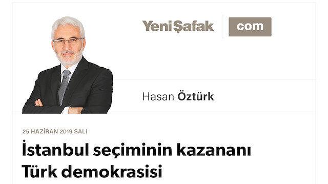 İstanbul seçiminin kazananı Türk demokrasisi