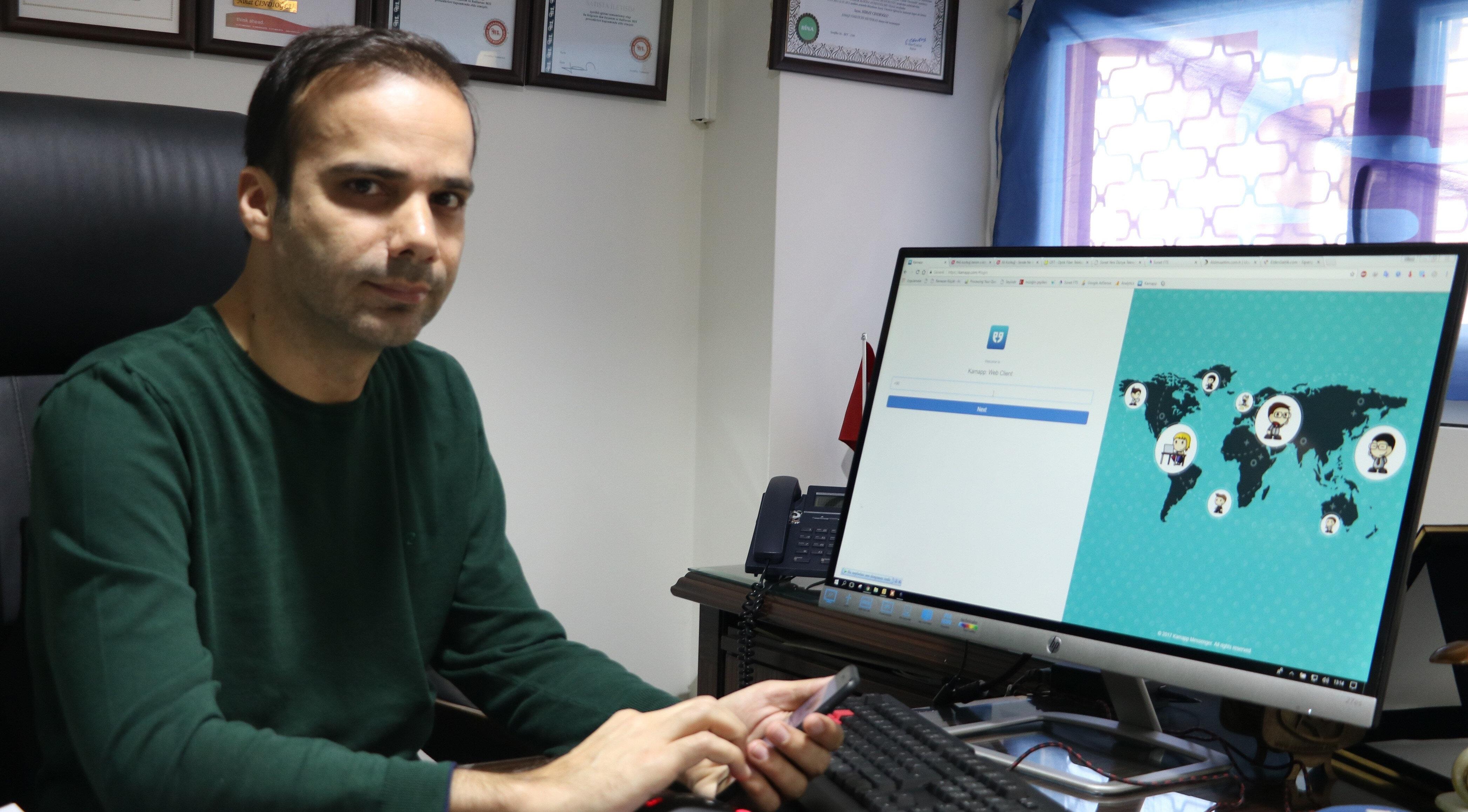 Kamaap uygulamasını üreten yazılım firmasının sahibi Nihat Cindioğlu.
