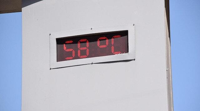 Siverek'te termometreler 58 dereceyi gösterdi.