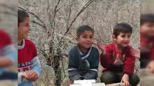 Vanlı çocuklarla gülümseten 'drone' pazarlığı