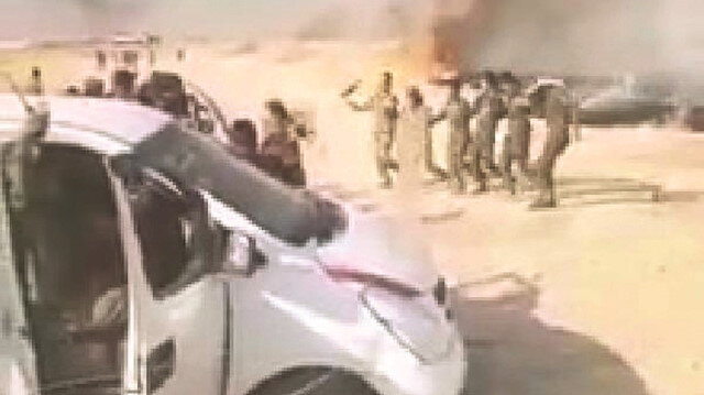 PKK'lılar tarla yakıp halay çekti