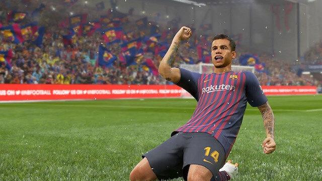 PES 2019 oyun içi görseli.