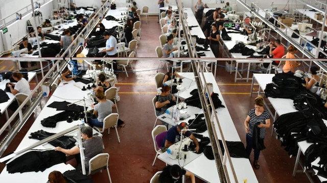 Tunceli'de faaliyet gösteren bir tekstil atölyesi.