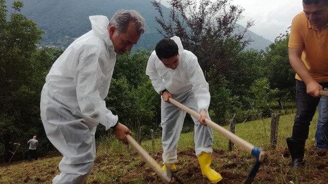 İkizdere Kaymakamı Tarık Buğra Seyhan - Belediye Başkanı Hakan Karagöz.