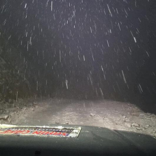 Rize'de kar sürprizi