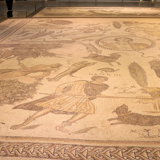 Massive intact mosaic to go on show in Tukrey