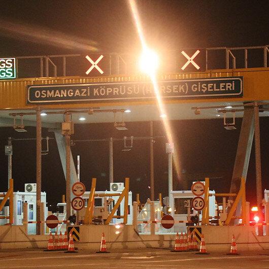 Osmangazi Köprüsü'nden geçenler durdurulan aracı görünce çok şaşırdı