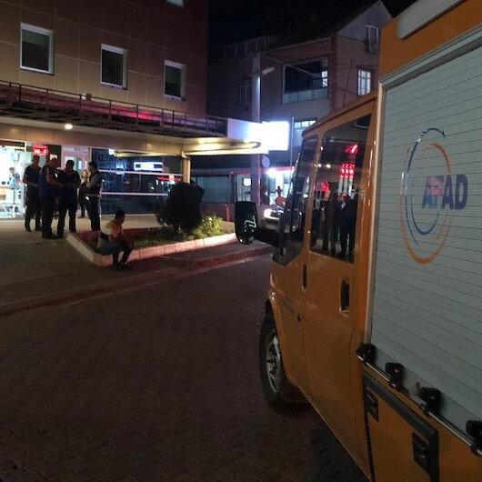 Araçtan düşen paketi hastaneye götürdü: AFAD harekete geçti