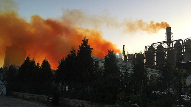 Patlama sesinin ardından yükselen yoğun duman endişeye yol açtı
