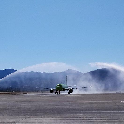 """مطار """"دالامان"""" التركي يستقبل أول رحلة لـ""""S7"""" الروسية"""