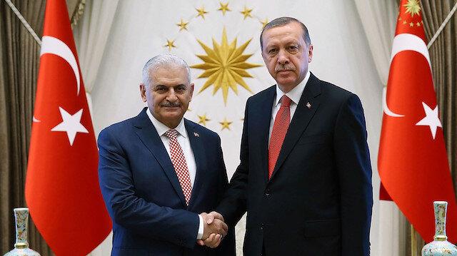 Binali Yıldırım - Cumhurbaşkanı Recep Tayyip Erdoğan