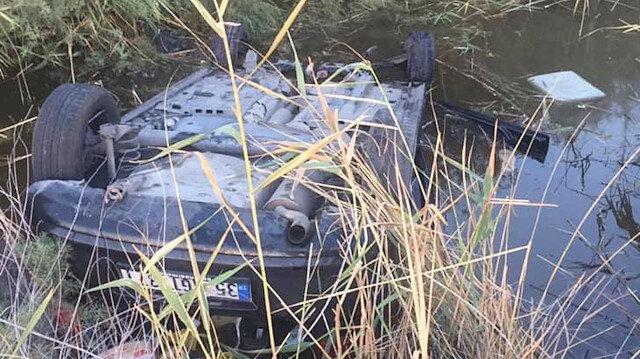 Sulama kanalına düşen otomobilde 25 saat kurtarılmayı bekledi