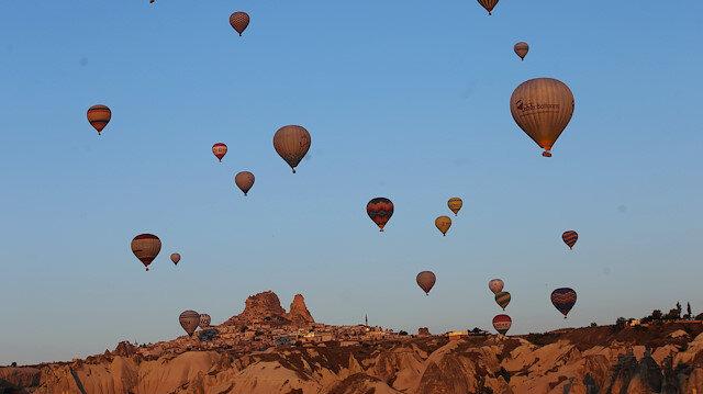 Kapadokya, her yıl daha fazla yerli ve yabancı turistin ilgisini çekiyor.