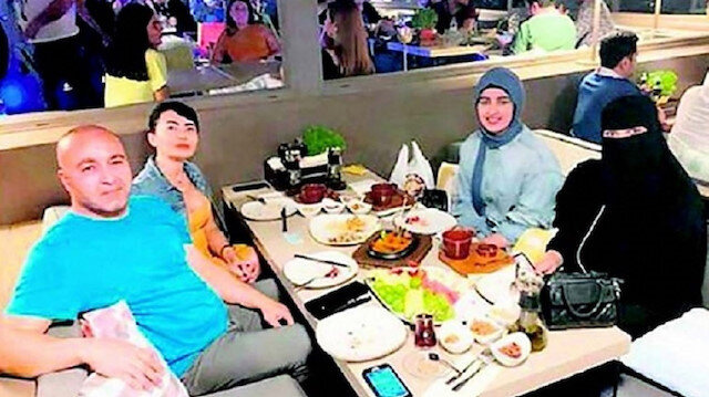Businessman Engin Yakut and his guests